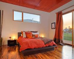 Personable Orange Bedroom Decor Interior Home Design A Wall Ideas View Fresh In With Ceiling And Curtain