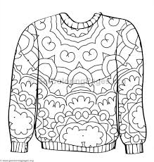 Ugly Sweater Coloring Pages 7