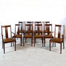 Set 10 Arts & Crafts Oak Dining Chairs With Leather Seats, C.1900 ... Tiger Oak Fniture Antique 1900 S Tiger Oak Round Pedestal With Ding Chairs French Gothic Set 6 Wood Leather 4 Victorian Pressed Spindle Back Circa Room 1900s For Sale At Pamono Antique Ding Chairs Of Eight Chippendale Style Mahogany 10 Arts Crafts Seats C1900 Glagow Antiques Atlas Edwardian Queen Anne Revival Table 8 Early Sets 001940s Extendable With Ball Claw Feet Idenfication Guide