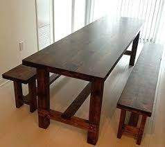 Farmhouse Dining Table With Bench Home Decor How To Living Room Ideas