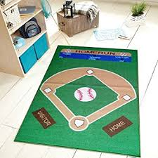 interestprint baseball field area rugs carpet 7 x 5