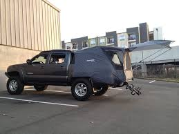 tested my cheap truck tent today tacoma world forums truck