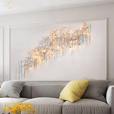 luxus led wand le moderne kupfer bunte glas wasser tropfen baum zweig le hause dekoration für wohnzimmer schlafzimmer villa