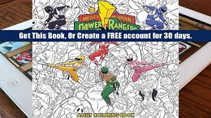 Download PDF Mighty Morphin Power Rangers Adult Coloring Book For Kindle