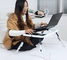 All in 1 laptop bed table desk stand Cooling pad cooler