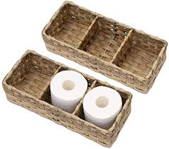 hosroome toilettenpapierkorb mit größeren fächern aufbewahrungskorb für toilettentank badezimmer aufbewahrungskorb dekorativer korb für badezimmer