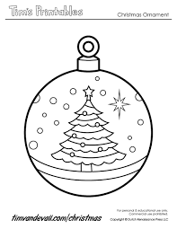 Christmas Tree Ornaments Printable Coloring Pages by Templates Of Christmas Decorations Virtren Com