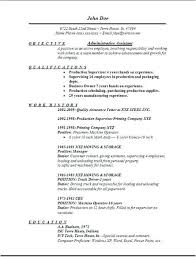 Resume Template Executive Assistant Office Format Administrative Objective Examples Of Resumes Sample