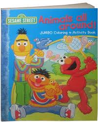 Marvelous Idea Jumbo Coloring Books Sesame Street Animals All Around Book