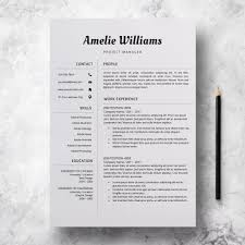 CV Template For Word | Simple Resume Format | Amelie Williams Cv Template For Word Simple Resume Format Amelie Williams Free Or Basic Templates Lucidpress By On Dribbble Mplates Land The Job With Our Free Resume Samples Sample For College 2019 Download Now Cvs Highschool Students With No Experience High 14 Easy To Customize Apply Job 70 Pdf Doc Psd Premium Standard And Pdf