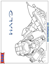 Halo 3 Video Game Coloring Page