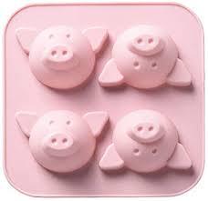 de kakiyi 4 loch karikatur schwein tier kuchen form