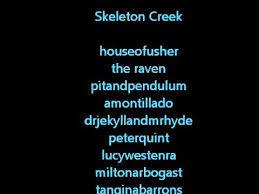 Skeleton Creek Passwords