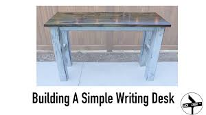 how to build a simple desk with limited tools youtube