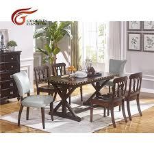 günstige esszimmer tisch und leder holz stuhl mit klassischen holz dunkle farbe esszimmer möbel wa431