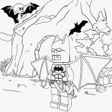 Kids Champion Printouts Small LEGO Men Superheroes Batman And Robin Bat Cave Colouring Book To Color