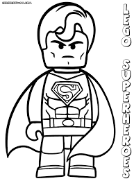 Lego Superhero Superman Hulk Marvel Superheroes Coloring Book