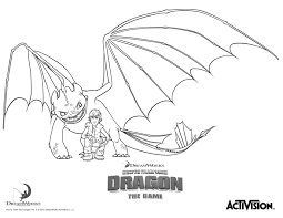 How To Train Your Dragon Coloring Pages Hiccup And Night Fury Line Drawings