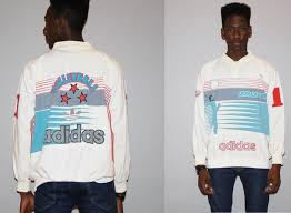 1980s Vintage Rare 80s Adidas Original Sport Silverado Spike Volleyball Sweatshirt Hip Hop Rap Style Fashion