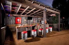 Incredible Home Bar Decorating Ideas For Pretty Patio Rustic Design Basement With Counter Stools Dart Board DIY HGTV Jake Moss Keg