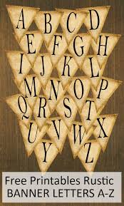 Free Printables Rustic Banner Letters A Z