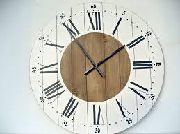Large Wall Clock 24 Inch Decor Rustic Kitchen Clocks Big