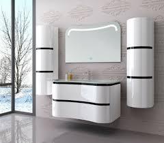 badmöbel set montiert weiß hochglanz lackiert