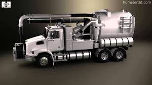100 Sewer Truck Western Star 4700 Set Back Vacuum 2011 By 3D Model Store