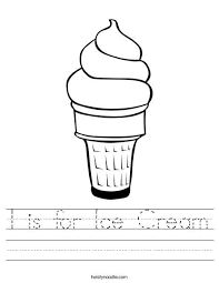 I Is For Ice Cream Worksheet From TwistyNoodle