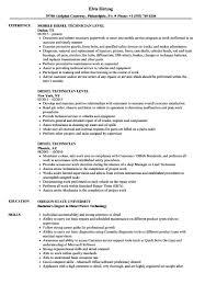 Mechanic Resume Diesel Technician Sample