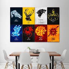 Game Of Thrones House Sigils Block Giant Wall Art Poster