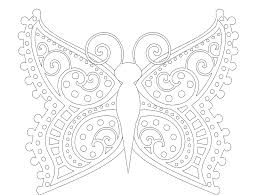 Image Of Free Butterfly Mandala Coloring Pages