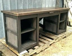 Rustic Office Desk Furniture This Is Made Entirely Of Reclaimed And Has