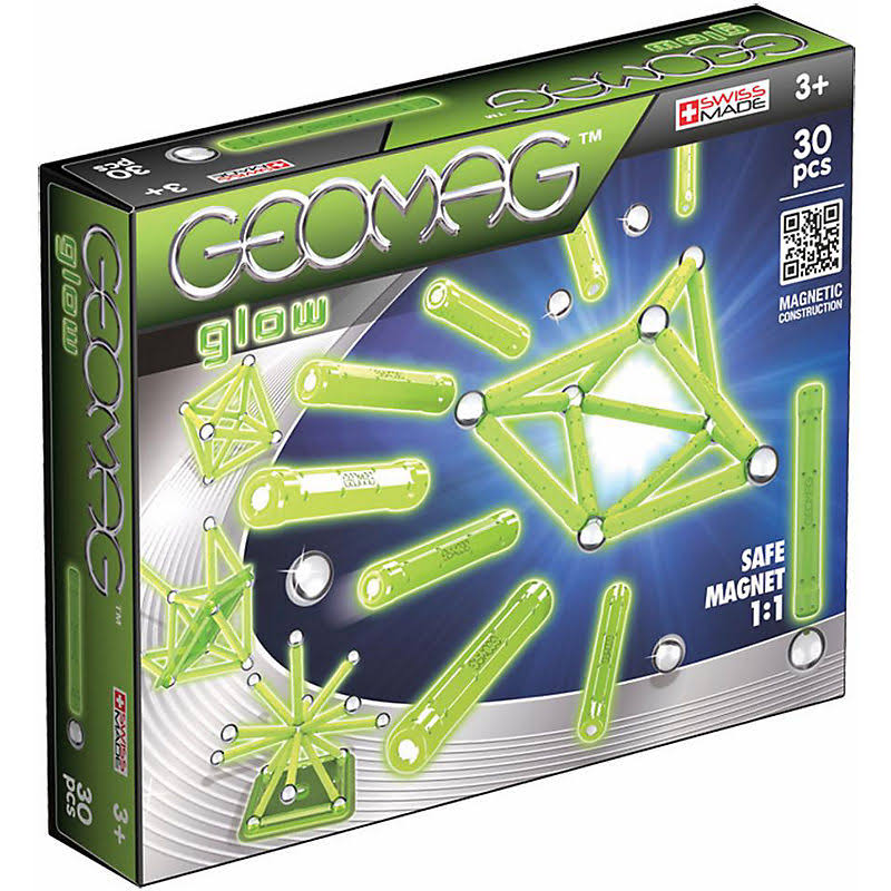 Geomag Color Glow In The Dark magnetic Toy - 30pcs