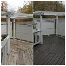 Behr Premium Deck Stain Solid by Deck Before And After Olympic Solid Color Stain In Backwoods