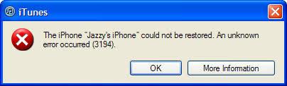 3194 Error Fix Tutorial – How To Repair The 3194 iPhone Restore
