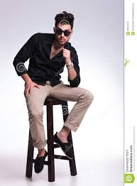 Young Man Posing On A High Chair Stock Photo - Image Of Gray ... Amazoncom Szpzc Wooden Bar Stool Home Chair Creative Navy Blue High Banner Party Decorations Birthday Decor Baby Boy Sign First 1st Cake Smash Table Lovely Rubbermaid Tables Your Apartment Concept 13 Best Chairs Of 2019 For Every Lifestyle Maverick Classy Wing In Offwhite Colour Chair Fabulous Counter 7 Small Spaces Reviews Ding Room Lovable Jenny Lind For Modern Simple Savon 65 Tosconova 2 Chintaly Imports Malibu Back Outdoor Sling Seat