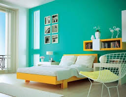 awesome apartment bedroom decorating with light blue wall paint
