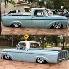 63' #Ford #F100 #Unibody #Bagged #Matte #fordtough #unibodyford ...