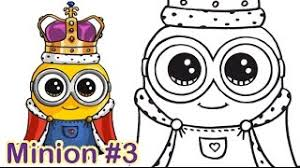 How To Draw Minion King Bob Cute Step By 2 Years Ago