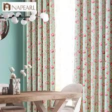 napearl 1 stück kurze fenster vorhänge für schlafzimmer behandlung gardinen floral design rustikalen blackout tüll vorhänge mädchen schlafzimmer