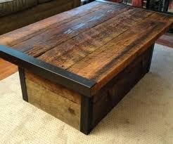 Cream Coffee Table Distressed Colored With