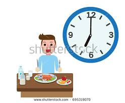 Happy Young Man With Eating Time Healthy Foods For Breakfastmeal Of Morning
