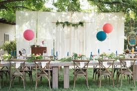 Boho Brunch Table From A Backyard Birthday Party On Karas Ideas