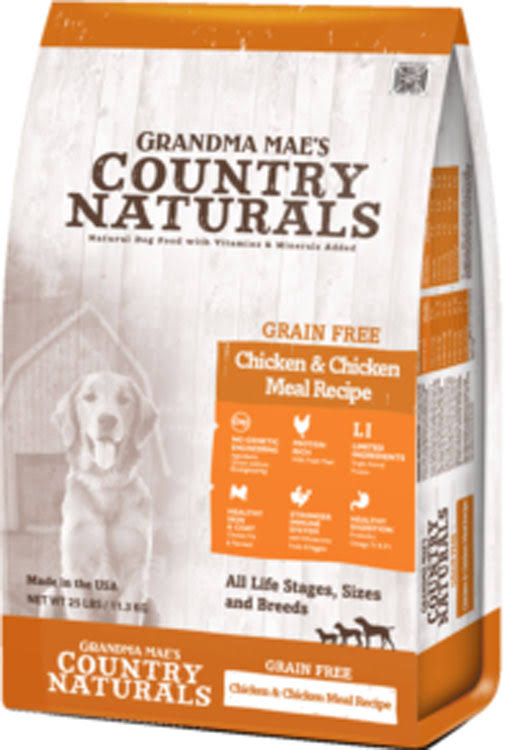 Grandma Mae S Country Nat Country Naturals Grain Free Limited Ingredient Dog Chicken 14 lb