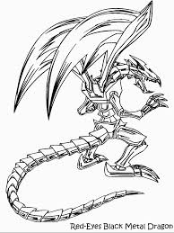 Yugioh Coloring Pages Red Eyes Black Dragon