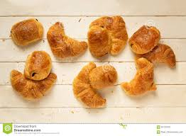 Download Croissants And Pain Au Chocolat Top View Stock Image