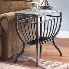 Amusing Small Chair Side End Table Marvelous Slate Browncasual Black ... Leick Delton Narrow Chairside End Table Fniture 10405 Amazoncom Boa Collection Solid Wood With Drawer The New Way Home Decor Easy Marion Ashley Homestore Slatestone Oak Rustic Finish Mission W 2 Open Shelves By Signature Design Sunny Designs Albany Chair Side With Door In Weathered Black 2019 Guest Room Huntley Espresso 15 14 Wide Accent Rattan Sofa Short Antique White Small Cottage Chaoal Gray Unique Ideas