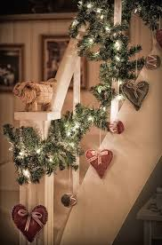 3 Bannister Garland Ive Been Looking For Ways To Jazz Up The On My Banister I Think These Little Heart Ornaments Are Adorable