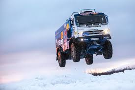 100 Master Truck Team Kamaz Dakar Truck Jumps Over Ice Video
